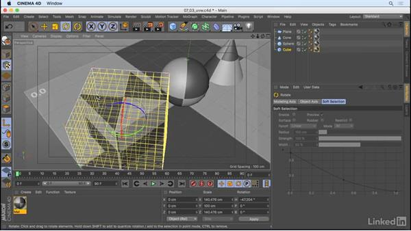 Manipulate materials on objects: CINEMA 4D R18 Essential Training: Motion Graphics