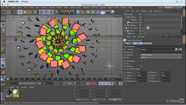 Create color and patterns with shaders: CINEMA 4D R18 Essential Training: Motion Graphics