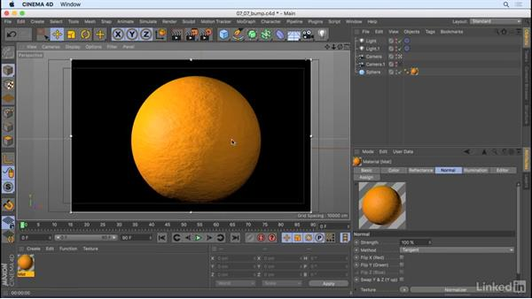 Make things have bumps: CINEMA 4D R18 Essential Training: Motion Graphics