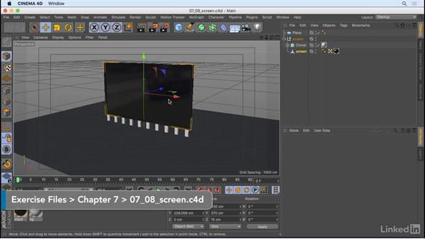 Animate animated materials: CINEMA 4D R18 Essential Training: Motion Graphics