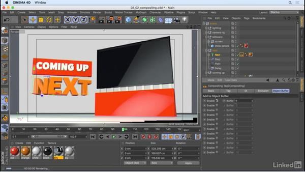 Compositing tags: CINEMA 4D R18 Essential Training: Motion Graphics