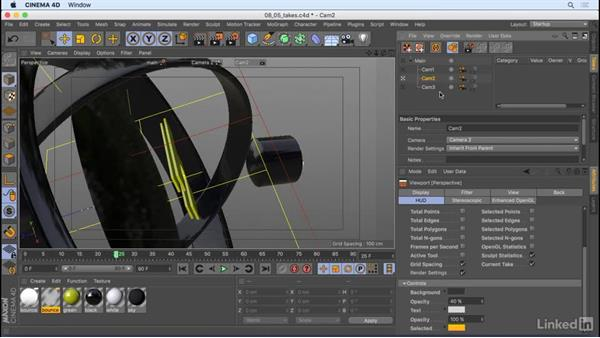 Set up takes: CINEMA 4D R18 Essential Training: Motion Graphics
