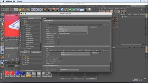 Solution: Rendering and compositing: CINEMA 4D R18 Essential Training: Motion Graphics