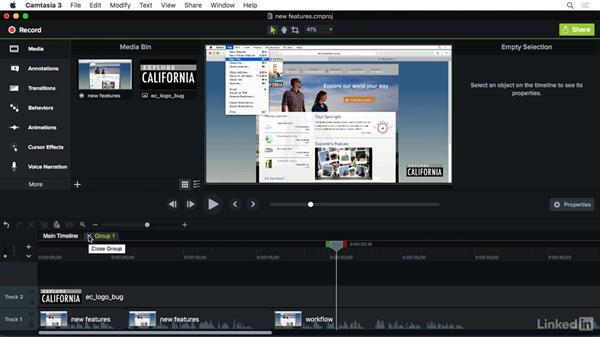 What's new in Camtasia: Camtasia 3 for Mac Essential Training