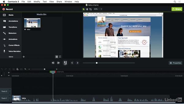 Handling mistakes: Camtasia 3 for Mac Essential Training