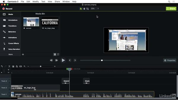 Canvas basics: Camtasia 3 for Mac Essential Training
