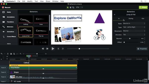 Understanding behaviors: Camtasia 3 for Mac Essential Training