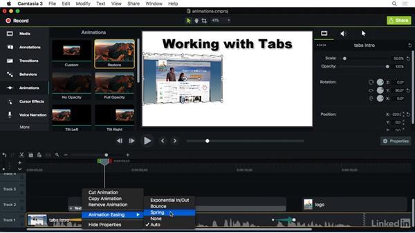 Understanding animations: Camtasia 3 for Mac Essential Training