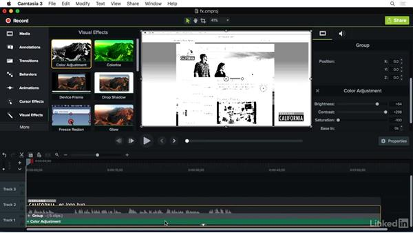 Understanding Video effects: Camtasia 3 for Mac Essential Training