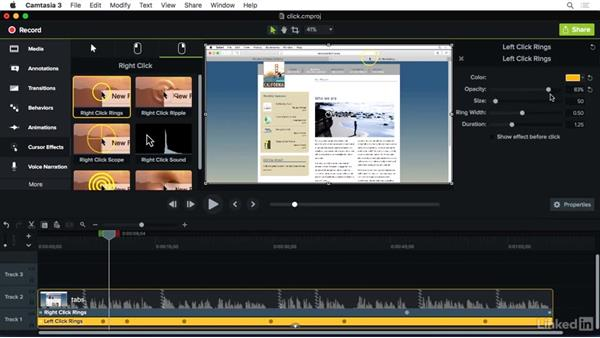 Using Click FX: Camtasia 3 for Mac Essential Training