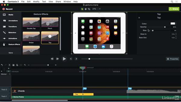 Using Gesture FX: Camtasia 3 for Mac Essential Training
