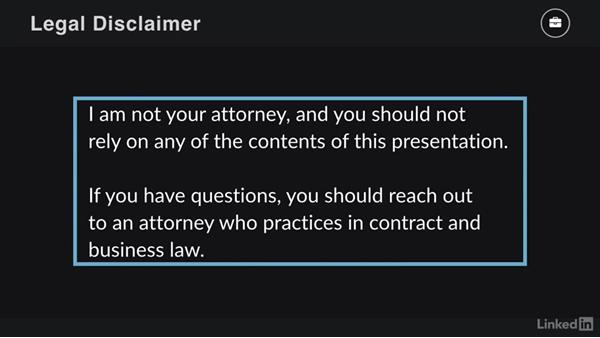 Legal disclaimer: Contracting for Creatives
