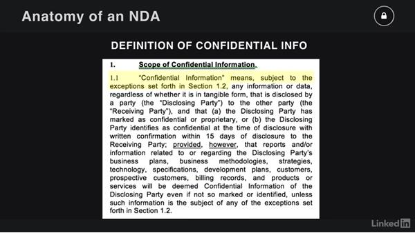 Anatomy of an NDA: Contracting for Creatives