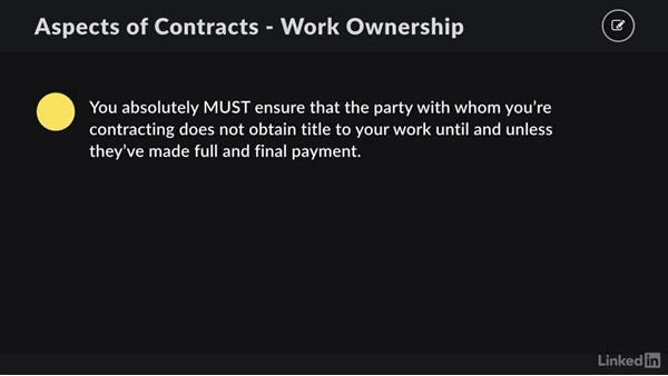 Work ownership and delivery: Contracting for Creatives