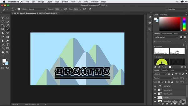 Installing Photoshop brushes: After Effects Guru: CC Market and Libraries