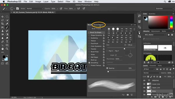Brushing in custom textures: After Effects Guru: CC Market and Libraries