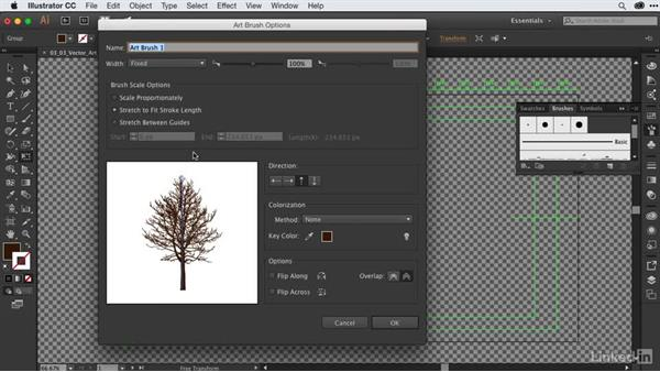 Converting vectors to Illustrator art brushes: After Effects Guru: CC Market and Libraries