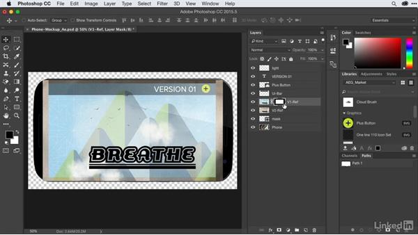 Inserting graphics in-screen: After Effects Guru: CC Market and Libraries