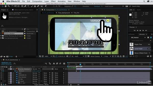 Synchronizing clicks with screen animation: After Effects Guru: CC Market and Libraries