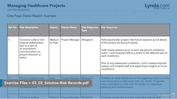 Solution: Stakeholder concerns: Managing Healthcare Projects