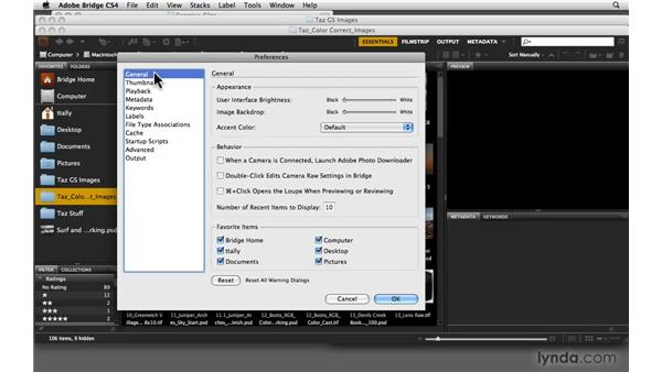 Customizing Bridge preferences: Photoshop CS4: Color Correction