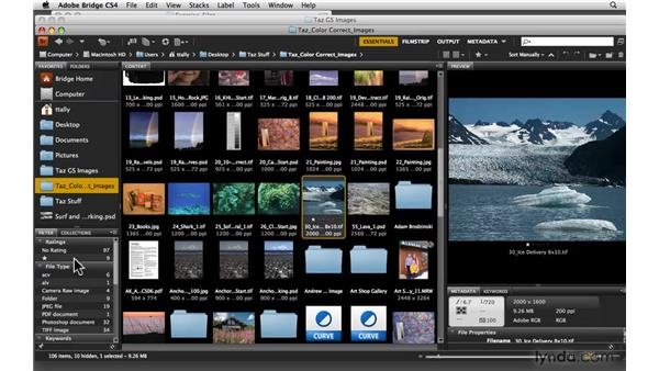 Sorting and labeling images: Photoshop CS4: Color Correction