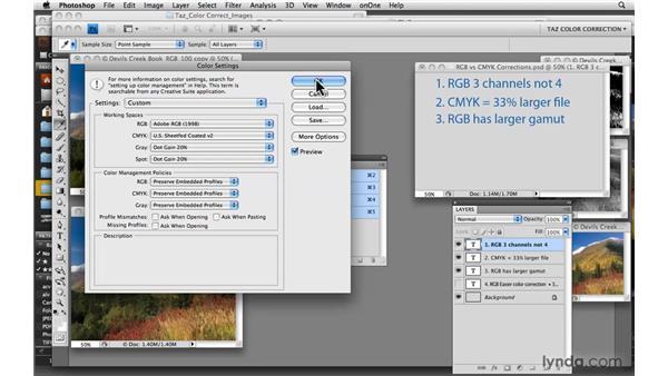 RGB vs. CMYK corrections: Photoshop CS4: Color Correction