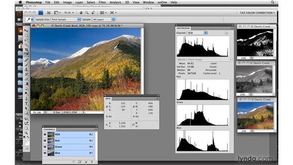 Understanding the Histogram's display of color: Photoshop CS4: Color Correction
