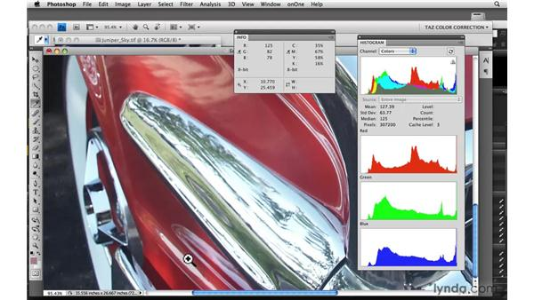 Using numeric evaluation for highlights and neutrals: Photoshop CS4: Color Correction