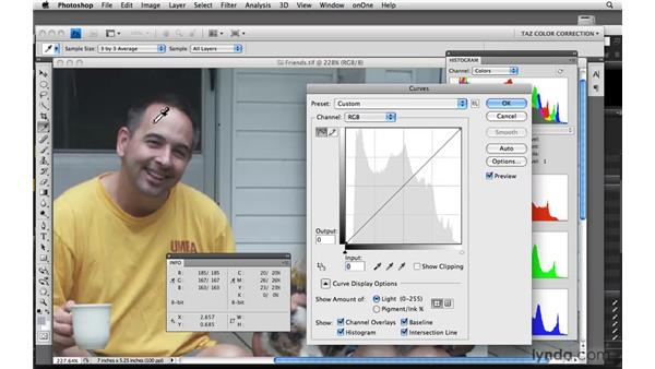 Using numeric evaluation for skin tones and complex images: Photoshop CS4: Color Correction