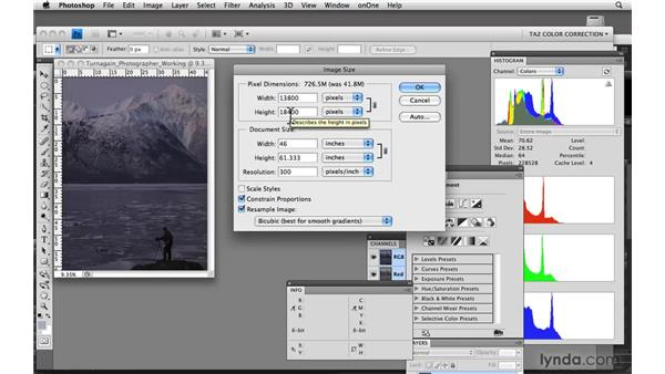 Adjusting dimensions, resolution, and modes: Photoshop CS4: Color Correction