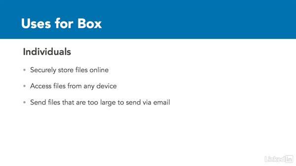 Uses for Box: Box.com Essential Training