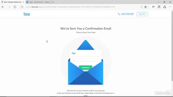 Create a personal account: Box.com Essential Training