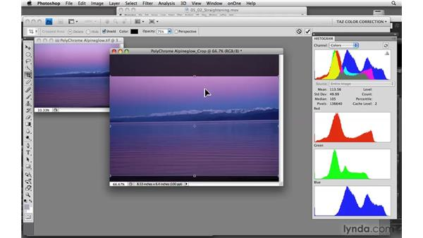 Cropping your image: Photoshop CS4: Color Correction