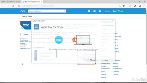 Install Box for Office: Box.com Essential Training