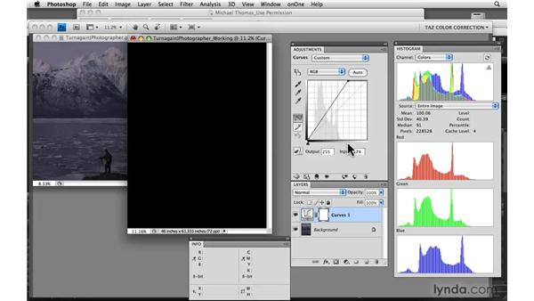 Using master channel histograms: Photoshop CS4: Color Correction