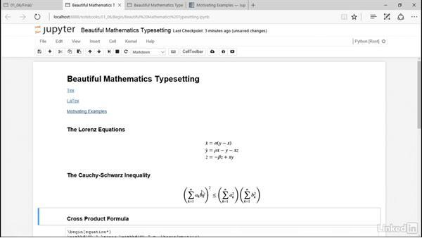 Beautiful mathematics typesetting: Pandas for Data Science