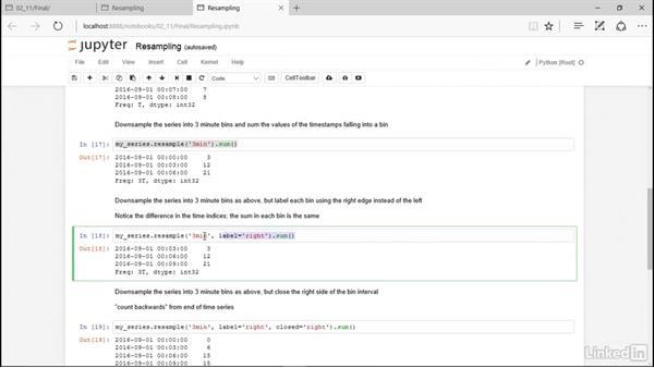 Time series resampling: Pandas for Data Science