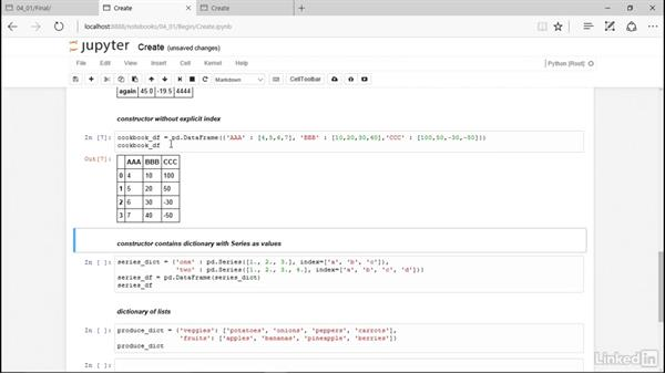 Create data frames