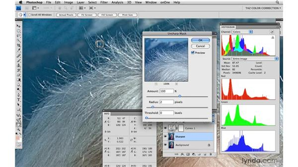 Sharpening in RGB: Photoshop CS4: Color Correction