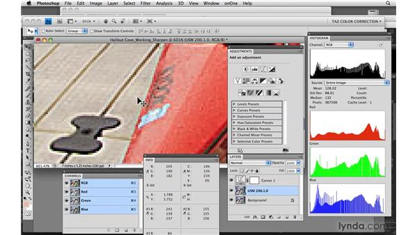 Sharpening in LAB: Photoshop CS4: Color Correction