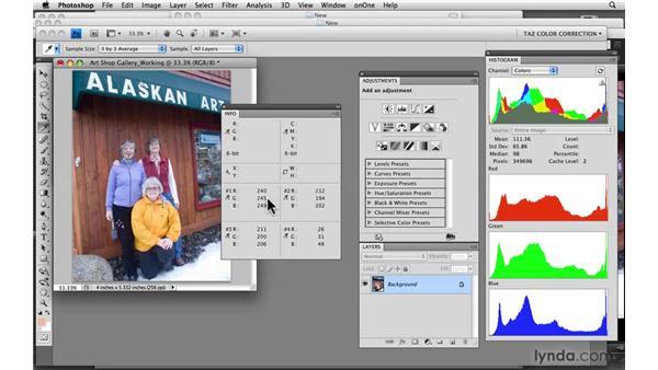 Working through color correction: Photoshop CS4: Color Correction