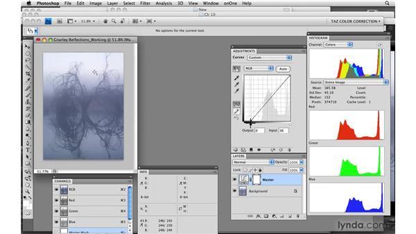 Channel adjustments: Photoshop CS4: Color Correction