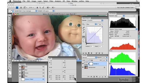 Skin tones: Babies: Photoshop CS4: Color Correction