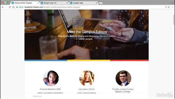 Helpful resources: Publishing on LinkedIn for College Students and Young Professionals