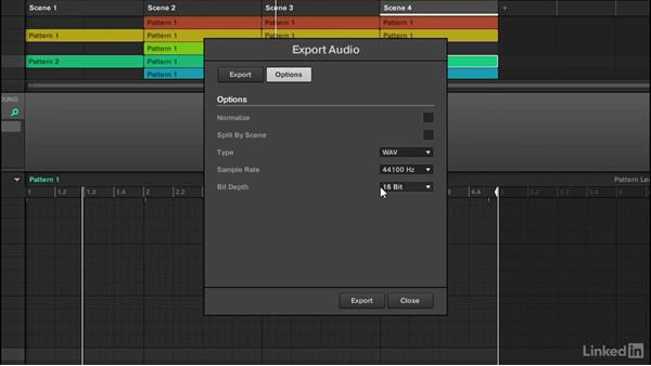 Using file export to bring audio from MASCHINE into Ableton: Using MASCHINE with Ableton Live