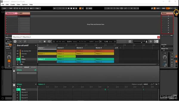 Recording your scenes from MASCHINE as MIDI in Ableton: Using MASCHINE with Ableton Live