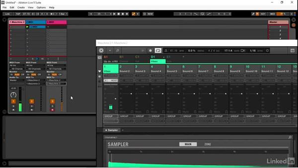 How to trigger single instruments in MASCHINE via MIDI: Using MASCHINE with Ableton Live
