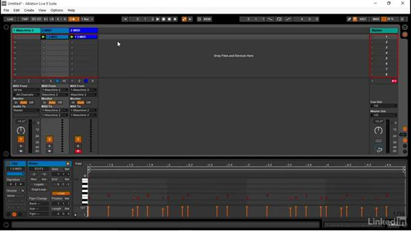 Setting up a MASCHINE kit to send and receive MIDI in Ableton: Using MASCHINE with Ableton Live