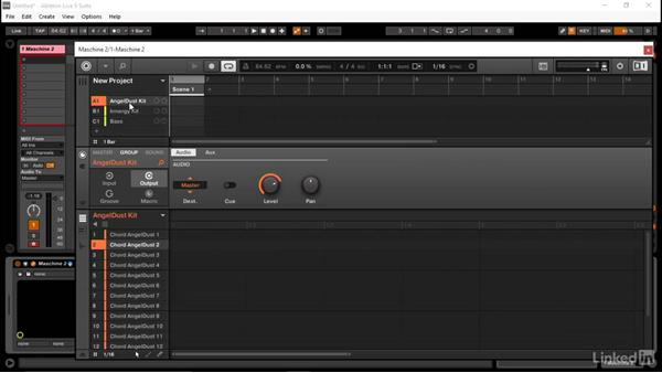 Setting up MASCHINE to send group audio into Ableton: Using MASCHINE with Ableton Live